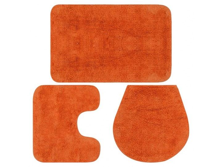 3-częściowy zestaw mat łazienkowych, tkanina, pomarańcz kod: V-133227