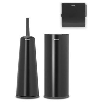 BRABANTIA - ReNew - Zestaw akcesoriów toaletowych - Czarny matowy kod: 28 06 03