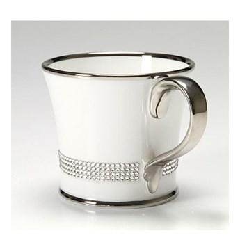 Kubek do kawy z kryształkami Swarovskiego (platyna) kod: Crystal