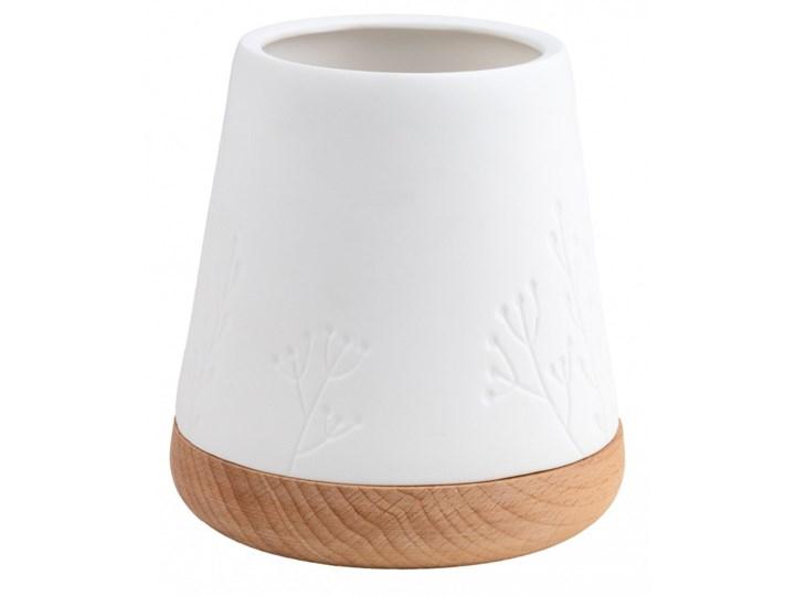 Świecznik z drewniana podstawą M, rośliny kod: C14168