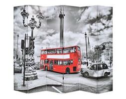 Składany parawan, 228x180 cm, londyński autobus, czarno-biały kod: V-245876