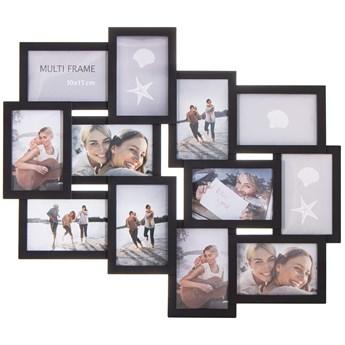 Ramka na zdjęcia 12 zdjęć multiramka 10x15 czarna
