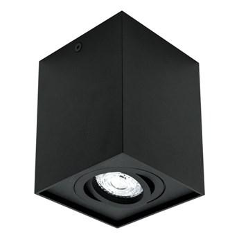 Punktowa oprawa natynk sufitowa kostka PALLAD 1 Black GU10 kwadratowa czarna EDO777108 EDO