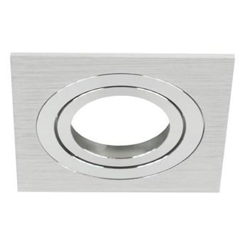 Punktowa oprawa sufitowa CERI 1 SQ Silver IP20 kwadratowa srebrny szlif EDO777137 EDO