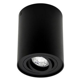 Punktowa oprawa sufitowa natynkowa SKAND 1 Black GU10 IP20 okrągła czarna EDO777100 EDO