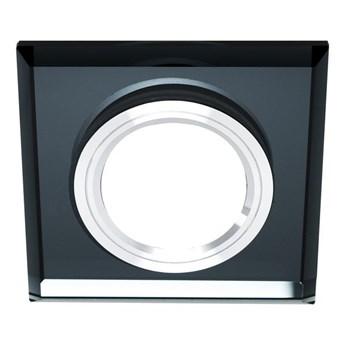 Szklana punktowa oprawa sufitowa CRYSTAL Black IP20 kwadratowa czarna EDO777131 EDO