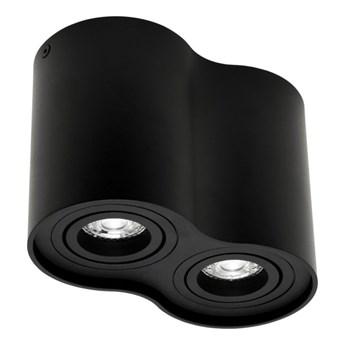 Punktowa oprawa sufitowa natynkowa SKAND 2 Black 2xGU10 IP20 okrągła czarna podwójna EDO777104 EDO