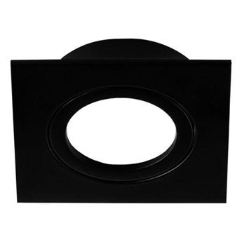 Punktowa oprawa podtynkowa sufitowa AKTYN 1 SQ Black IP20 kwadratowa czarna EDO777123 EDO