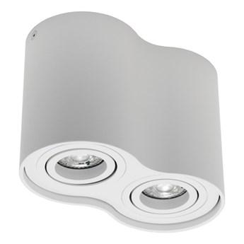 Punktowa oprawa sufitowa natynkowa SKAND 2 White 2xGU10 IP20 okrągła biała podwójna EDO777105 EDO