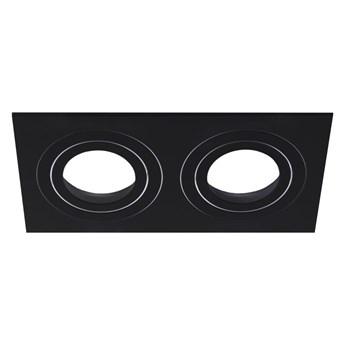 Czarna oprawa sufitowa wpuszczana regulowana LED AKTYN 2 SQ Black IP20 kwadratowa podwójna EDO777134 EDO