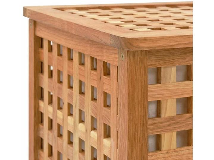 Skrzynia na pranie z drewna Kastilo 2X Kategoria Drewno Kolor Brązowy