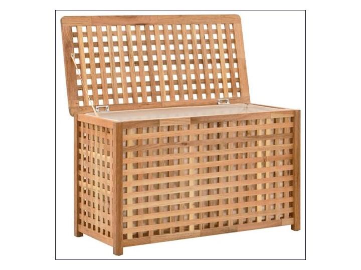 Skrzynia na pranie z drewna Kastilo 2X Drewno Kategoria