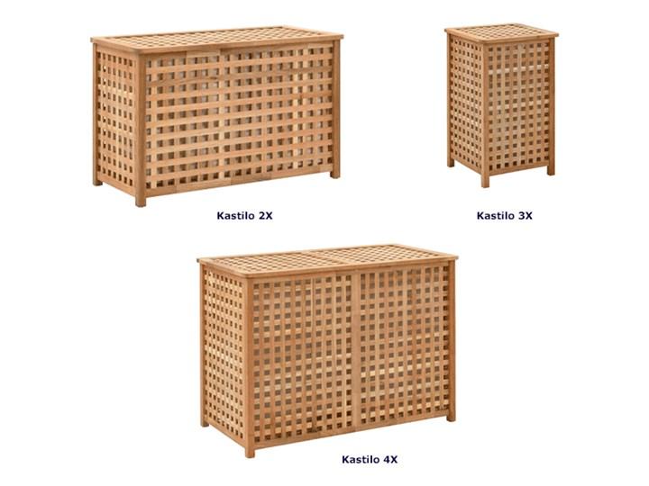 Podwójny kosz na pranie z drewna Kastilo 4X Drewno Kategoria