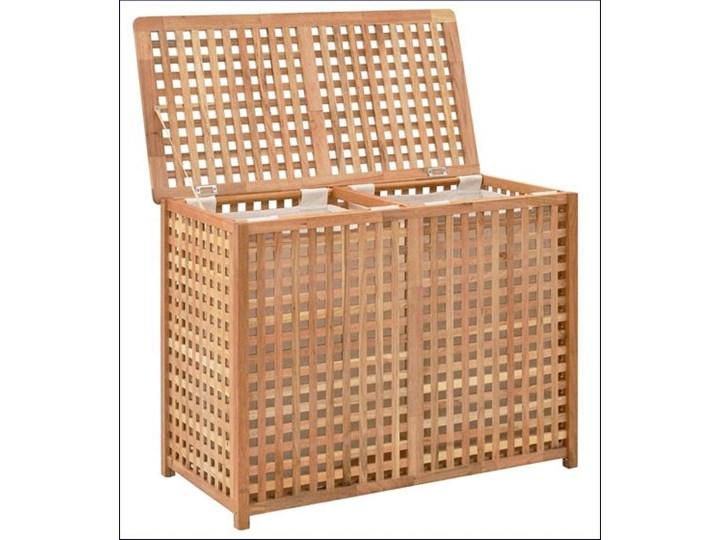 Podwójny kosz na pranie z drewna Kastilo 4X Drewno Kategoria Kolor Brązowy