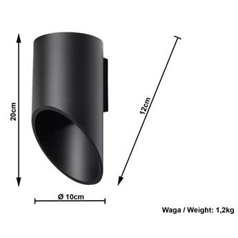 Minimalistyczny kinkiet ledowy E722-Peni - czarny