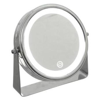 Podświetlane lusterko kosmetyczne LED, okrągłe, stojące