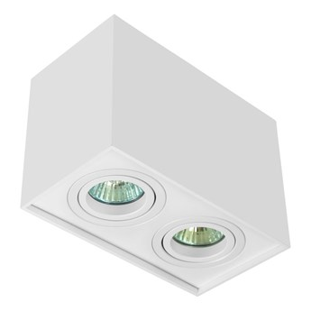 Nowoczesna podwójna sufitowa oprawa natynkowa prostokąt MR16 biały mat GU10