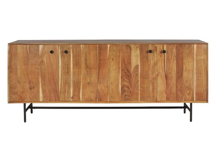 Komoda LENA (Akacja) Drewno Kategoria Komody Wysokość 80 cm Z szafkami Szerokość 200 cm Głębokość 50 cm Kolor Beżowy