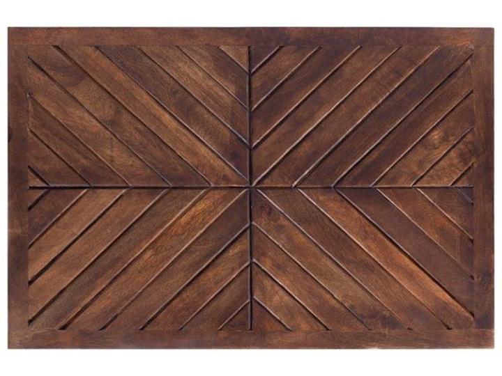Stolik Kawowy LAG JODŁA (Bursztyn) Drewno Metal Zestaw stolików Wysokość 30 cm Styl Nowoczesny