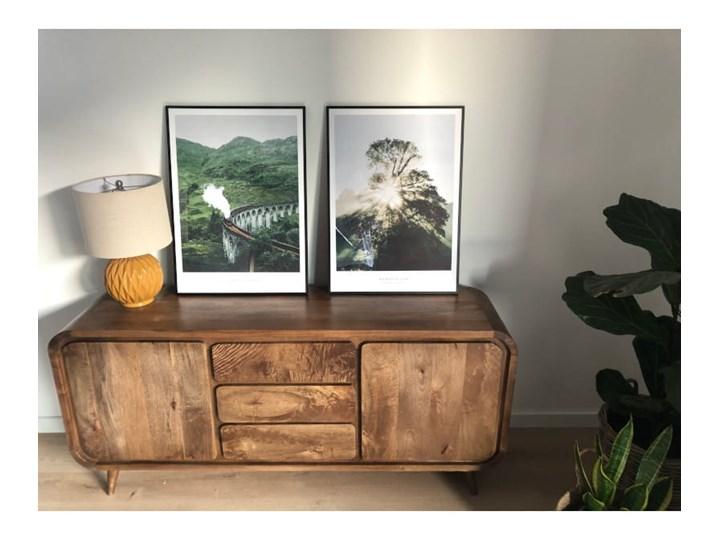 Kredens HENIO (Bursztyn) Drewno Z szafkami i szufladami Pomieszczenie Salon