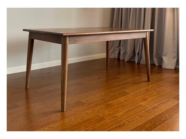 Stół rozkładany MARIAN - 120x80 cm (Karmel) Kolor Brązowy Długość 120 cm  Kamień Drewno Styl Vintage