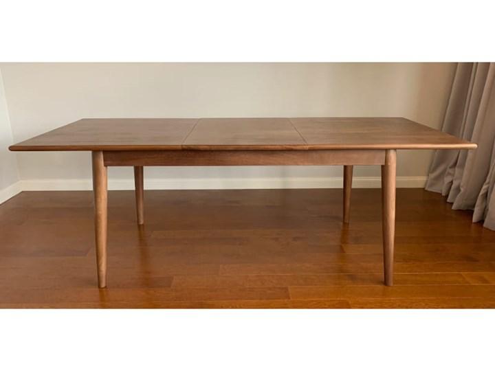 Stół rozkładany MARIAN - 120x80 cm (Karmel) Kamień Drewno Długość 120 cm  Styl Vintage Rozkładanie Rozkładane