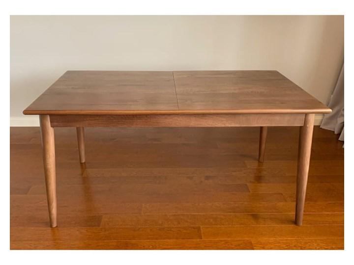 Stół rozkładany MARIAN - 120x80 cm (Karmel) Pomieszczenie Stoły do jadalni Kamień Drewno Długość 120 cm  Styl Industrialny
