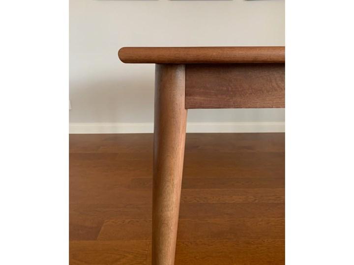 Stół rozkładany MARIAN - 120x80 cm (Karmel) Kamień Długość 120 cm  Drewno Kolor Brązowy Rozkładanie Rozkładane