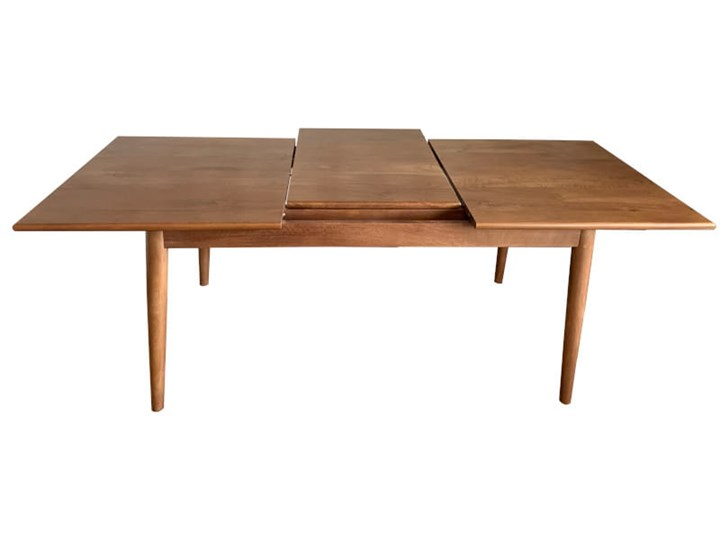 Stół rozkładany MARIAN - 120x80 cm (Karmel) Kamień Długość 120 cm  Drewno Pomieszczenie Stoły do jadalni Rozkładanie Rozkładane