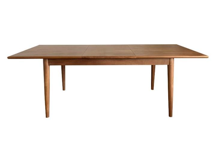 Stół rozkładany MARIAN - 120x80 cm (Karmel) Długość 120 cm  Drewno Kamień Pomieszczenie Stoły do jadalni