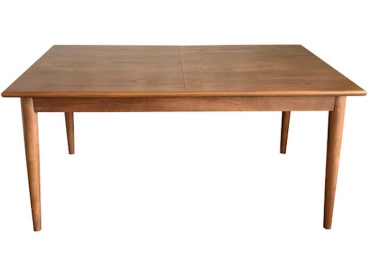 Stół rozkładany MARIAN - 120x80 cm (Karmel) Kolor Brązowy Długość 120 cm  Kamień Drewno Pomieszczenie Stoły do kuchni