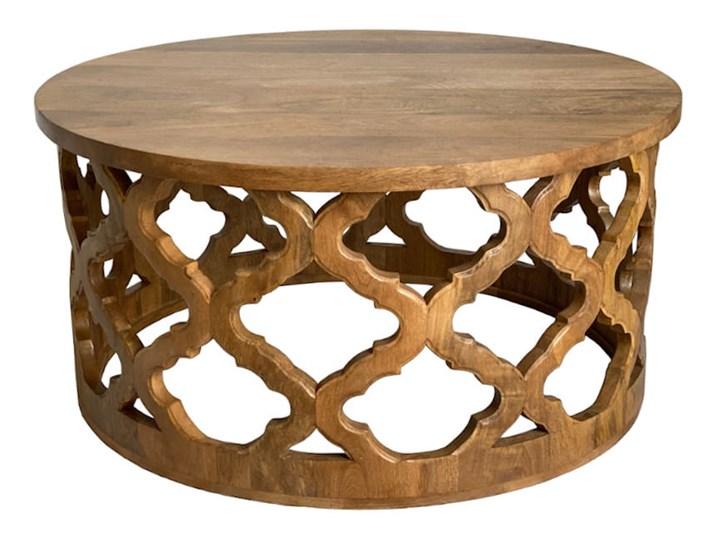 Stolik Kawowy HUGGEN STOR - 80 cm (Karmel) Kategoria Stoliki i ławy Drewno Styl Vintage