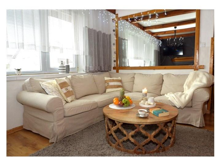 Stolik Kawowy HUGGEN STOR - 100 cm (Karmel) Drewno Zestaw stolików Kształt blatu Okrągłe