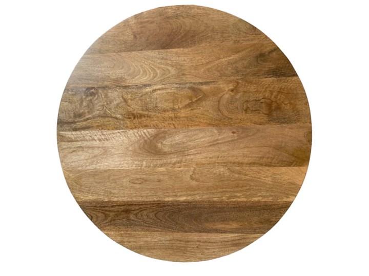 Stolik Kawowy HUGGEN STOR - 80 cm (Karmel) Kształt blatu Okrągłe Drewno Kategoria Stoliki i ławy