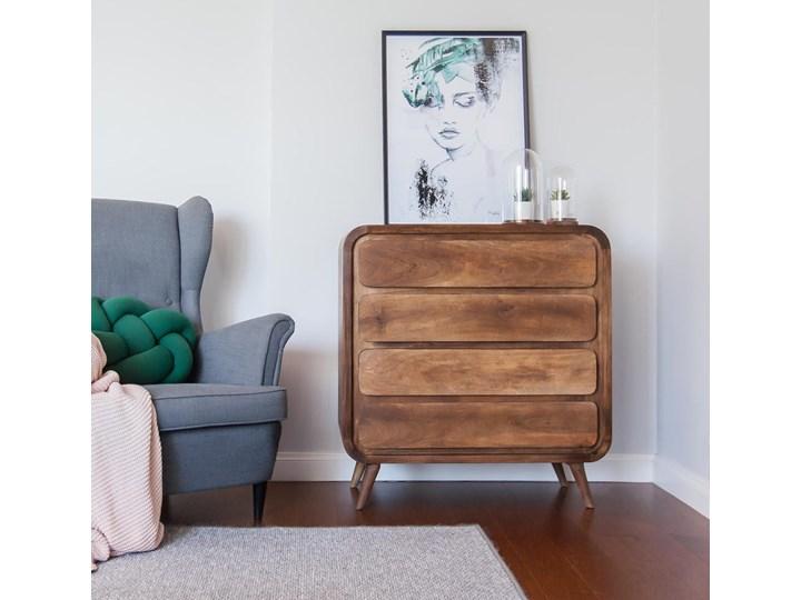 Komoda HANKA (Karmel) Szerokość 85 cm Wysokość 90 cm Drewno Pomieszczenie Sypialnia