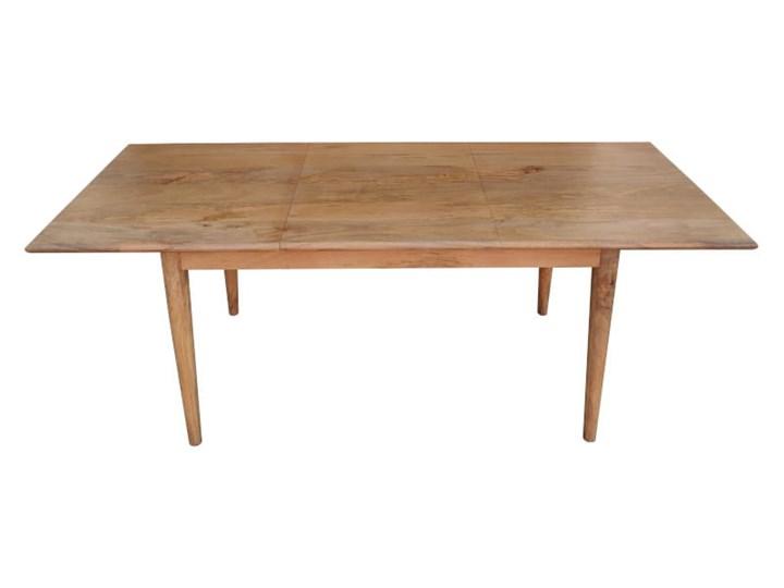 Stół rozkładany MARIAN - 120x80 cm (Karmel) Długość 120 cm  Drewno Kamień Kategoria Stoły kuchenne