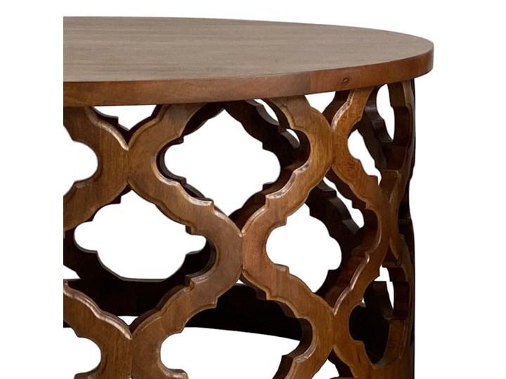Stolik Kawowy HUGGEN STOR - 100 cm (Karmel) Drewno Zestaw stolików Styl Vintage Kształt blatu Okrągłe