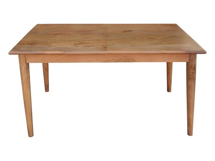 Stół rozkładany MARIAN - 120x80 cm (Karmel) Długość 120 cm  Kamień Drewno Styl Vintage Kolor Brązowy