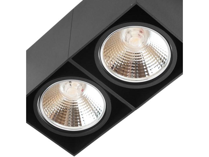Oprawa sufitowa natynkowa ruchoma podwójna czarna ES QR AR111 prostokąt Prostokątne Oprawa stropowa Oprawa halogenowa Oprawa ruchoma Kolor Czarny Kategoria Oprawy oświetleniowe