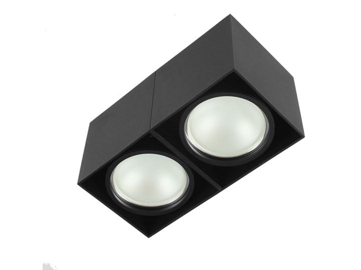 Oprawa sufitowa natynkowa ruchoma podwójna czarna ES QR AR111 prostokąt Oprawa ruchoma Oprawa stropowa Oprawa halogenowa Prostokątne Kolor Czarny