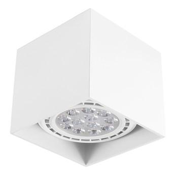Oprawa natynkowa kwadrat eco GU10 ES AR111 stała biała sufitowa