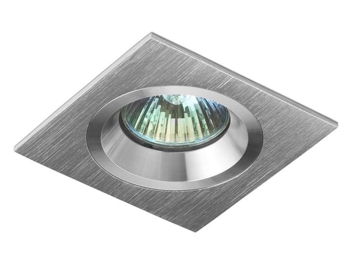 Kwadratowa lampa sufitowa podtynkowa aluminium - oprawydladomu.pl Oprawa halogenowa Kategoria Oprawy oświetleniowe Oprawa led Oprawa stropowa Kwadratowe Kolor Srebrny