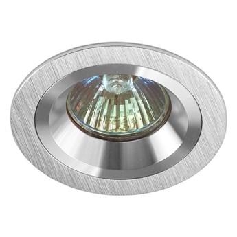 Okrągła lampa stała podtynkowa spot MR16 aluminium - oprawydladomu.pl