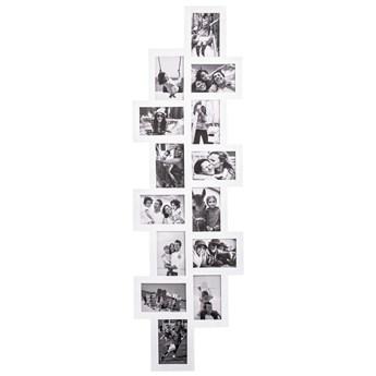 Ramka na zdjęcia 14 zdjęć multiramka 10x15 biała