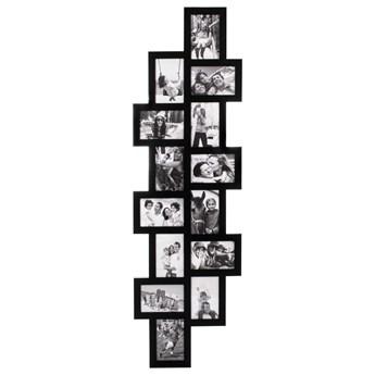 Ramka na zdjęcia 14 zdjęć multiramka 10x15 czarna