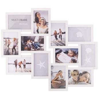 Ramka na zdjęcia 12 zdjęć multiramka 10x15 biała