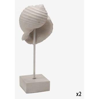 MUSZLA KREMOWA SZTUCZNA NA POSTUMENCIE MYKONOS 10x10x25 cm