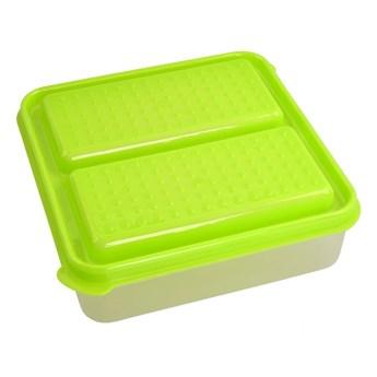 DUOBOX 2in 1, 500 + 500 ml pojemnik na żywność, zielony