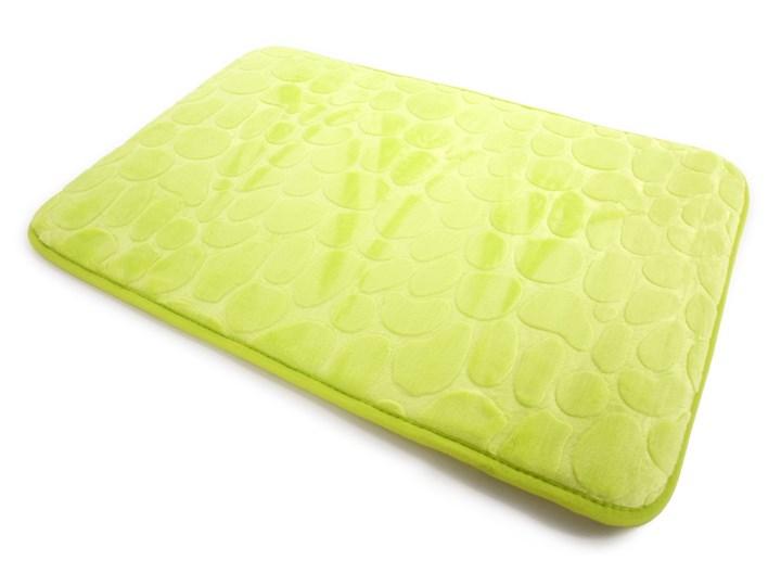 Dywanik łazienkowy zielony, 70 x 45 cm Mikrofibra 45x70 cm Kategoria Dywaniki łazienkowe