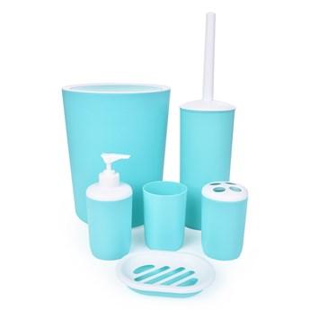 6-elementowy zestaw łazienkowy miętowy